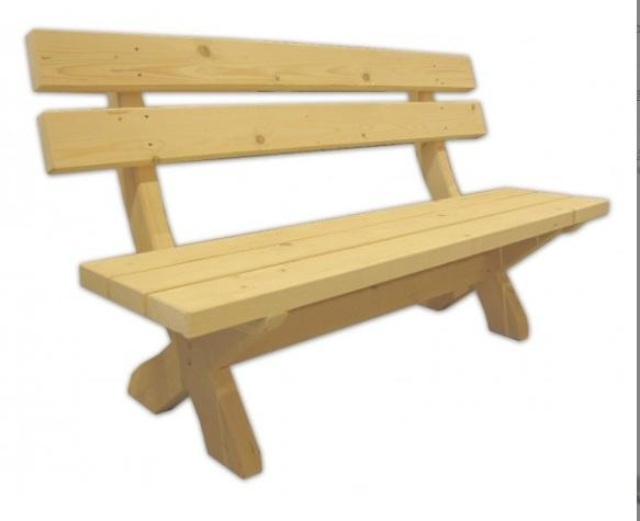 smrekova lavička z dreva