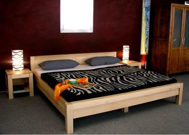 Drevená manželská posteľ 180
